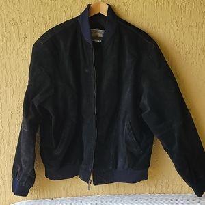 Men's black leather jacket Sz XL